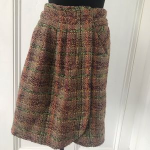 Colorful tweed skirt Odille size 6 skirt